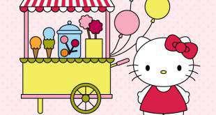 vẽ chú mèo Hello Kitty bằng AI