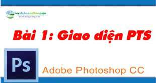 học pts online, giao diện photoshop