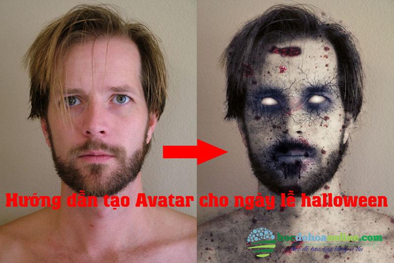 hiệu ứng zombi trong photoshop