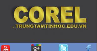 vẽ logo ánh chữ vàng bằng corel