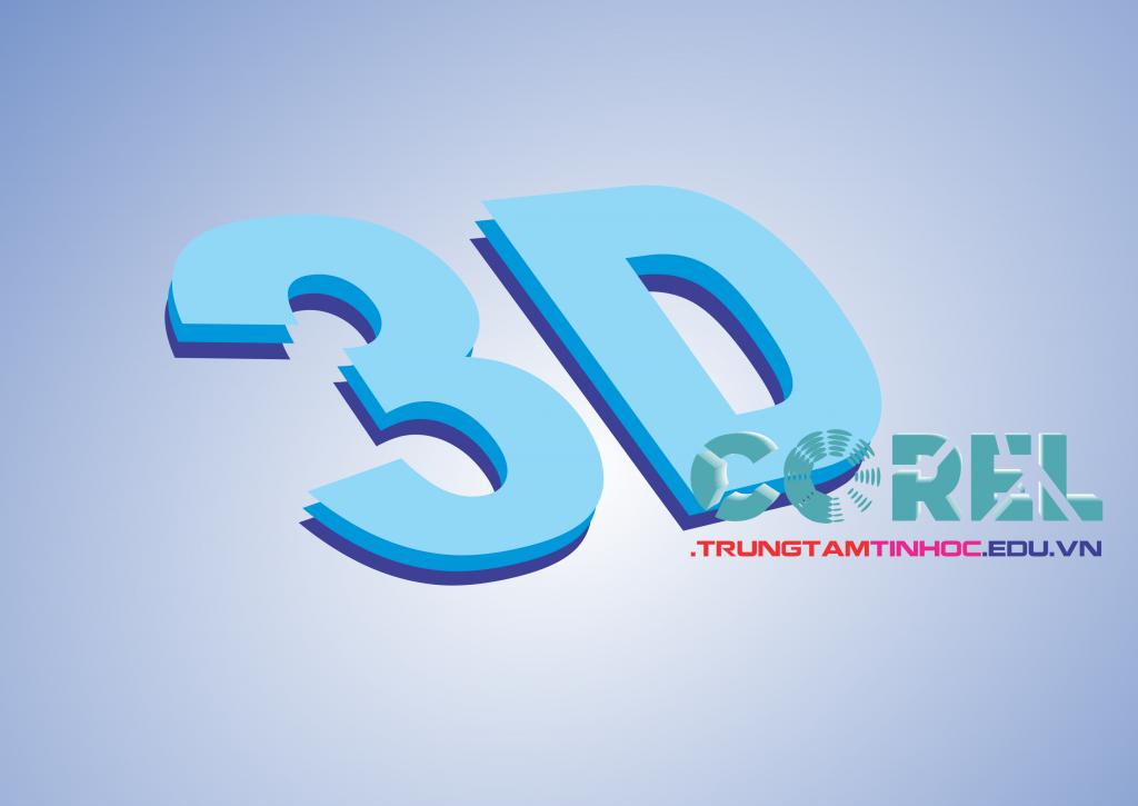 logo chữ 3D trong corel