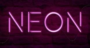 hiệu ứng neon trong photoshop