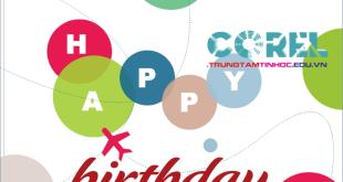thiết kế thiệp sinh nhật bằng corel