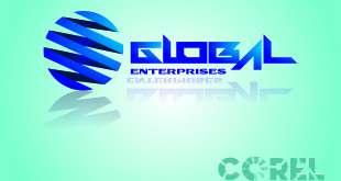thiết kế logo Global trong corel