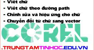 lệnh text trong corel