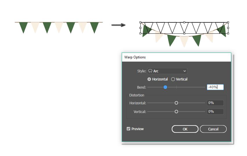 làm thế nào để làm cong các biểu ngữ