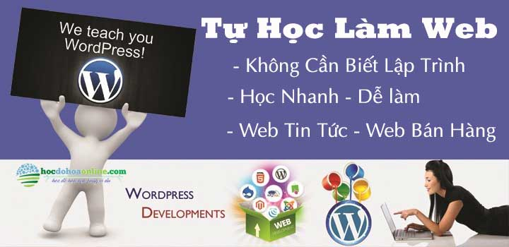 tu hoc thiet ke website bang wordpress