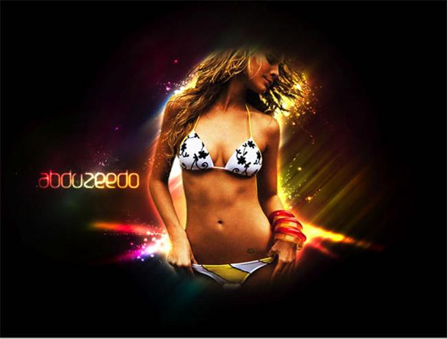 Hot girl lấp lánh trong Photoshop