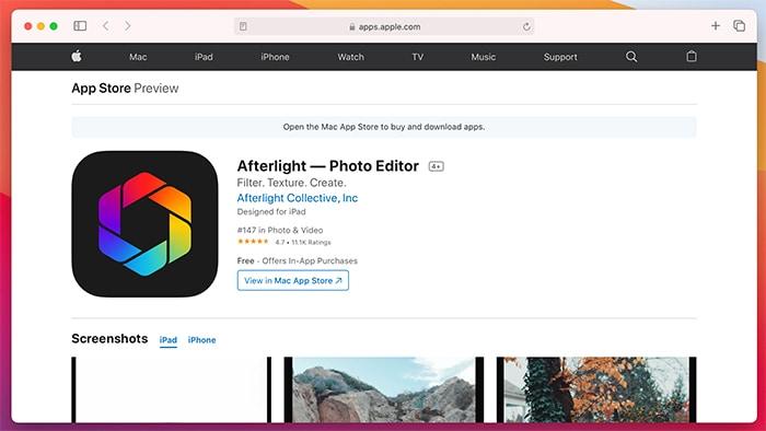 Ứng dụng chỉnh sửa ảnh Ios Afterlight