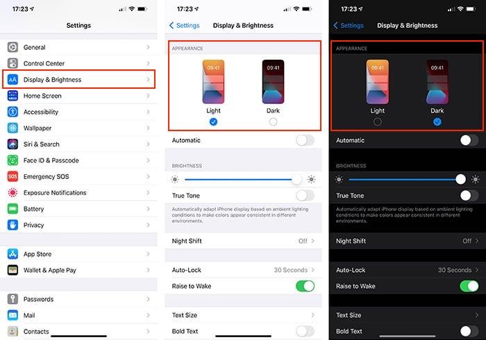 Ứng dụng cài đặt chế độ tối cho Iphone