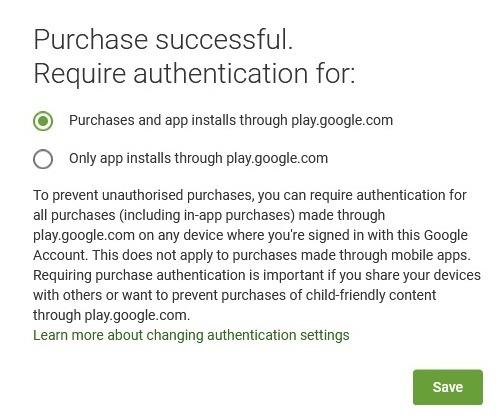 Cài đặt ứng dụng Tùy chọn xác thực Android từ xa