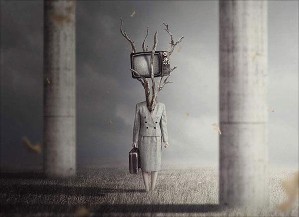 Siêu thực-TV-Đầu-Ảnh-Thao tác-Với-Adobe-Photoshop