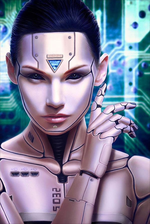 Người-Cyborg-Hình ảnh-Thao tác-trong-Adobe-Photoshop