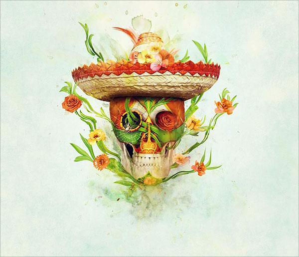 Sugar-Skull-Photo-Manipulation-With-Adobe-Photoshop
