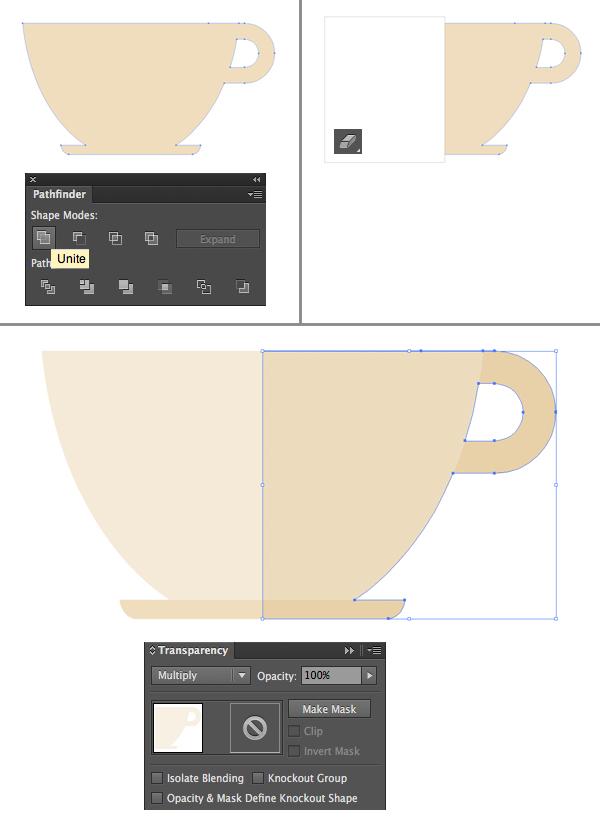 1624871755 139 Thiet ke Bieu trung Teacup phang trong Adobe Illustrator
