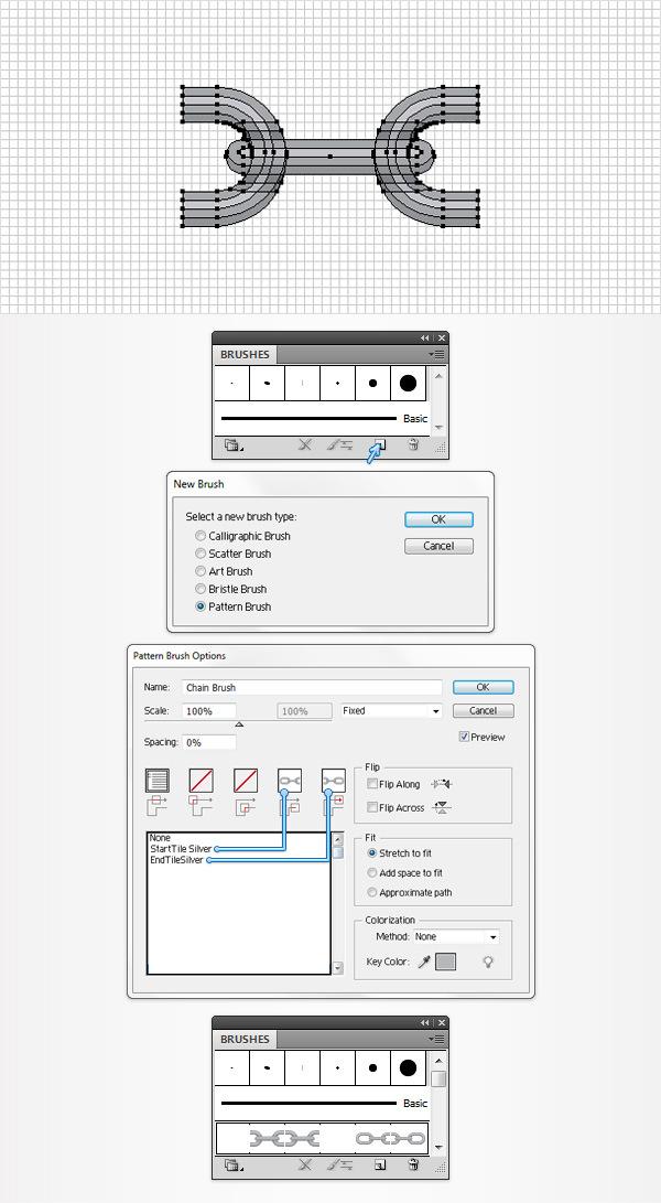 Cách tạo một Brush hoa văn trong Adobe Illustrator 15