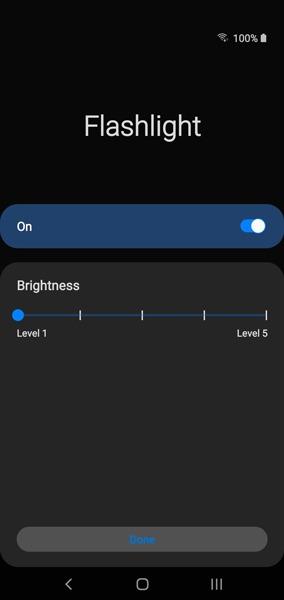 Tắt đèn pin trên Android Galaxy 1