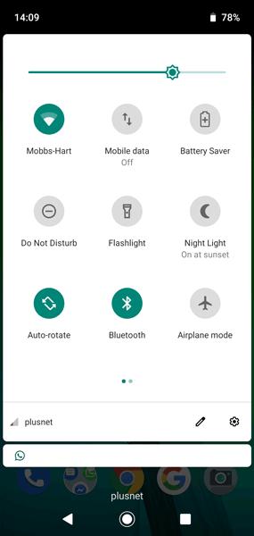 Bật đèn pin trên thông báo Android