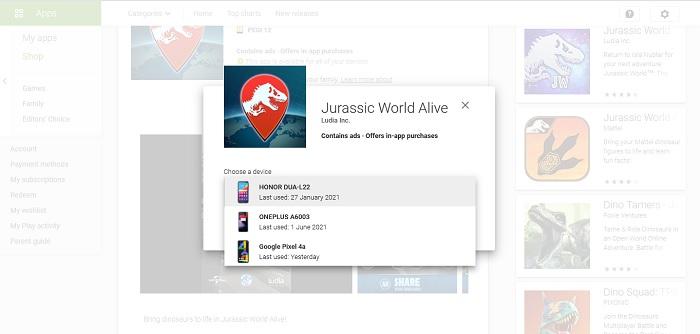 Cài đặt ứng dụng từ xa Android Chọn thiết bị di động