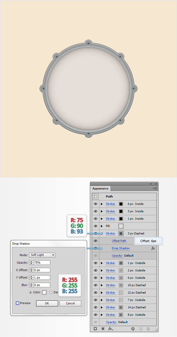How to Create a Simple Drum Icon 16