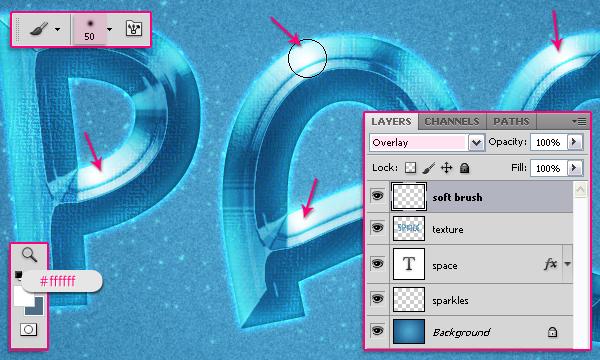 Cách tạo hiệu ứng văn bản kiểu không gian trong Photoshop 24