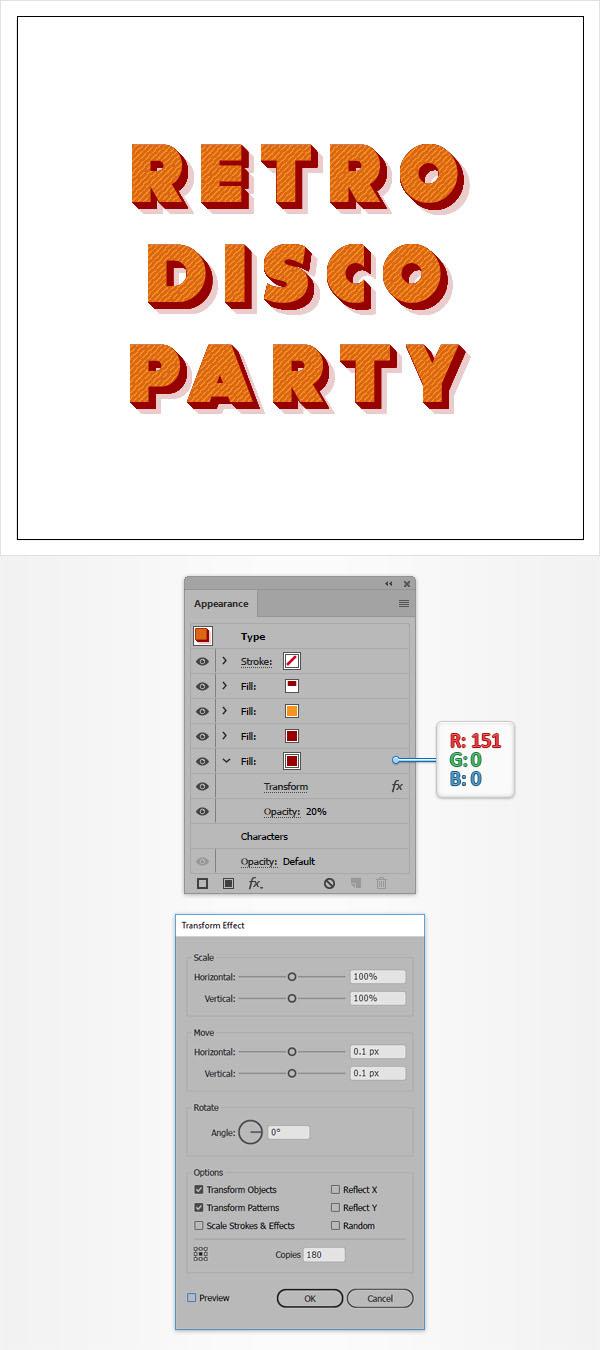 Cách tạo hiệu ứng văn bản cổ điển trong Adobe Illustrator 9