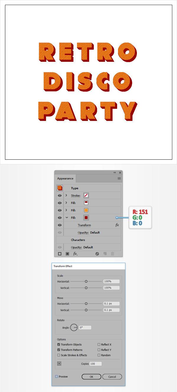 Cách tạo hiệu ứng văn bản cổ điển trong Adobe Illustrator 8