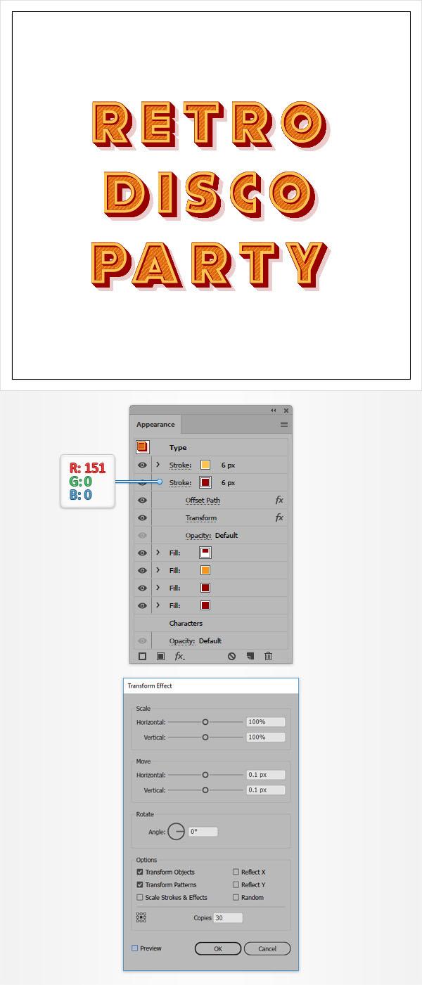 Cách tạo hiệu ứng văn bản cổ điển trong Adobe Illustrator 11