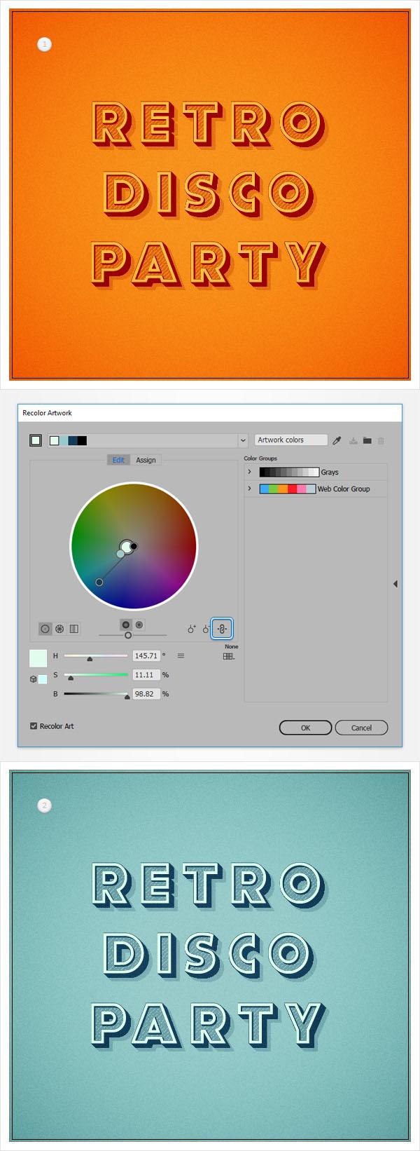 Cách tạo hiệu ứng văn bản cổ điển trong Adobe Illustrator 15