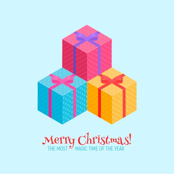 1626921863 499 Cach tao Mon qua Giang sinh Isometric trong Adobe Illustrator
