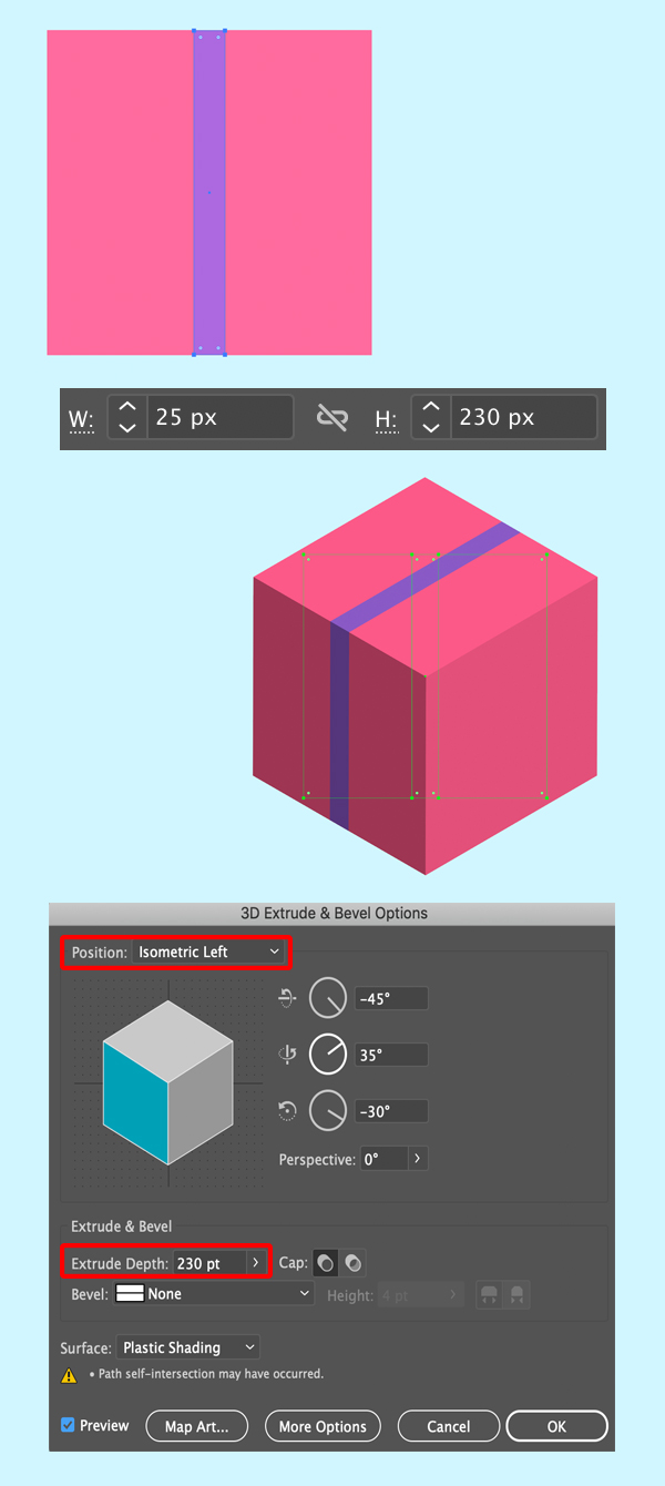 1626921864 97 Cach tao Mon qua Giang sinh Isometric trong Adobe Illustrator