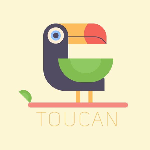 cách làm một con chim nhiệt đới vector