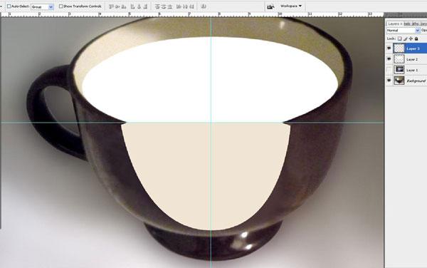 Tạo một bông hoa súng trong một hiệu ứng cốc trong Photoshop 15