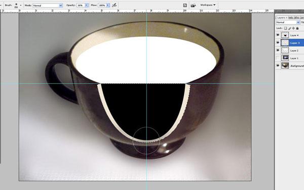 Tạo một bông hoa súng trong một hiệu ứng cốc trong Photoshop 17