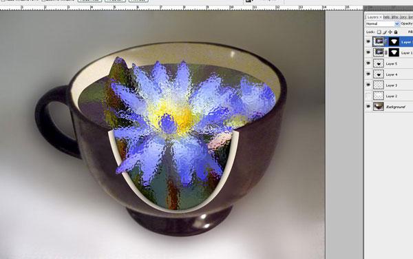 Tạo một hiệu ứng hoa súng trong một chiếc cốc trong Photoshop 28