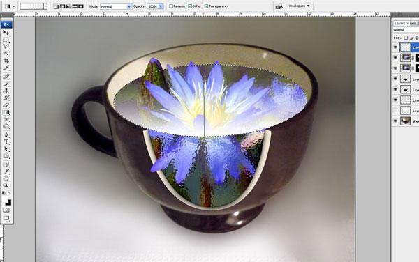 Tạo một hiệu ứng hoa súng trong một chiếc cốc trong Photoshop 31