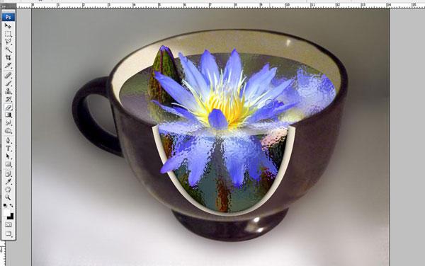 Tạo một hiệu ứng hoa súng trong một chiếc cốc trong Photoshop 32