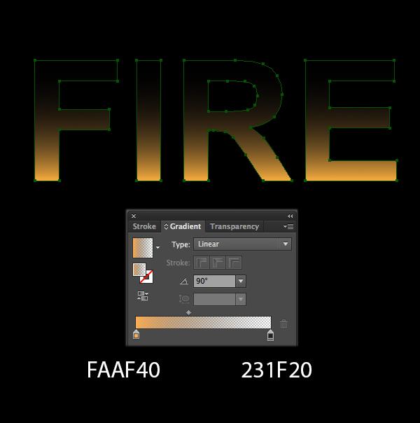 Cách tạo hiệu ứng chữ lửa trong 10 phút trong Illustrator 3