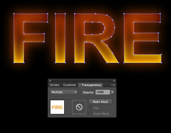 Cách tạo hiệu ứng chữ lửa trong 10 phút trong Illustrator 7