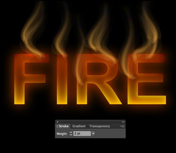 Cách tạo hiệu ứng chữ lửa trong 10 phút trong Illustrator 11