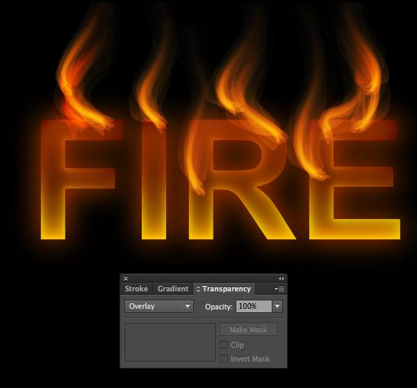 Cách tạo hiệu ứng chữ lửa trong 10 phút trong Illustrator 14