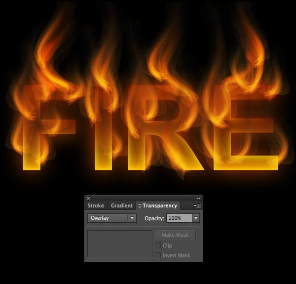 Cách tạo hiệu ứng chữ lửa trong 10 phút trong Illustrator 17