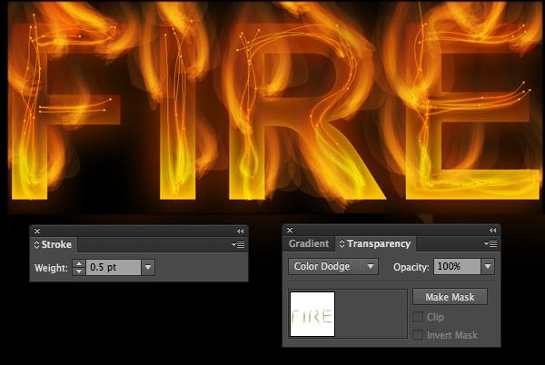 Cách tạo hiệu ứng chữ lửa trong 10 phút trong Illustrator 18