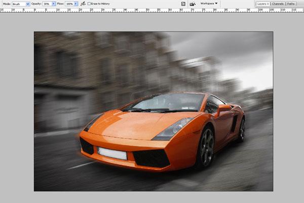 Cách tạo hiệu ứng chuyển động nhanh trong Photoshop 4
