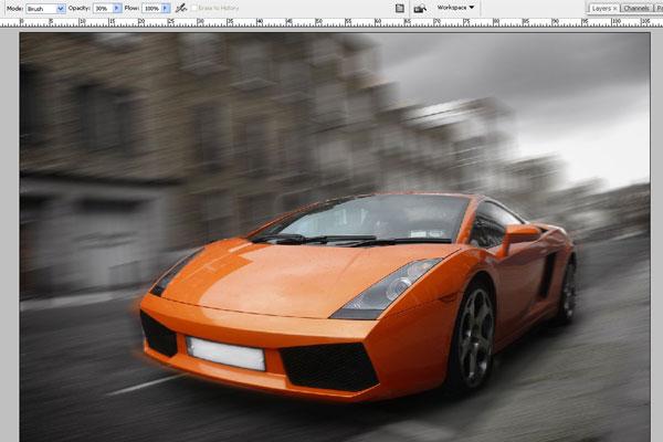 Cách tạo hiệu ứng chuyển động nhanh trong Photoshop 7