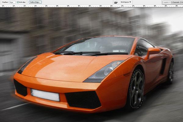 Cách tạo hiệu ứng chuyển động nhanh trong Photoshop 8