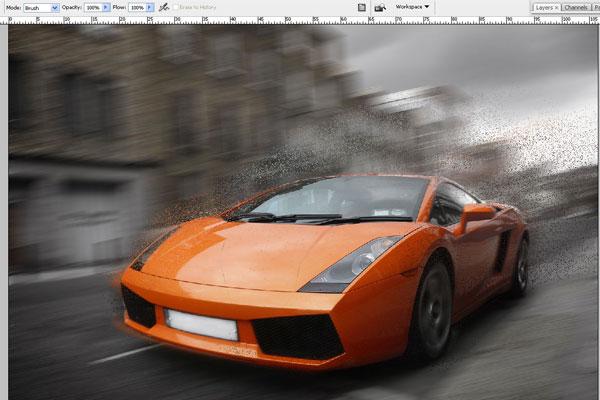 Cách tạo hiệu ứng chuyển động nhanh trong Photoshop 6