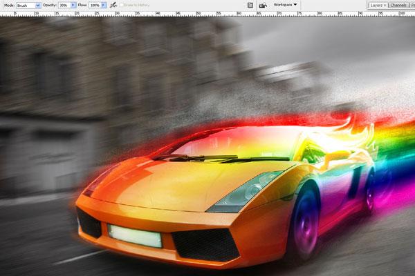 Cách tạo hiệu ứng chuyển động nhanh trong Photoshop 21
