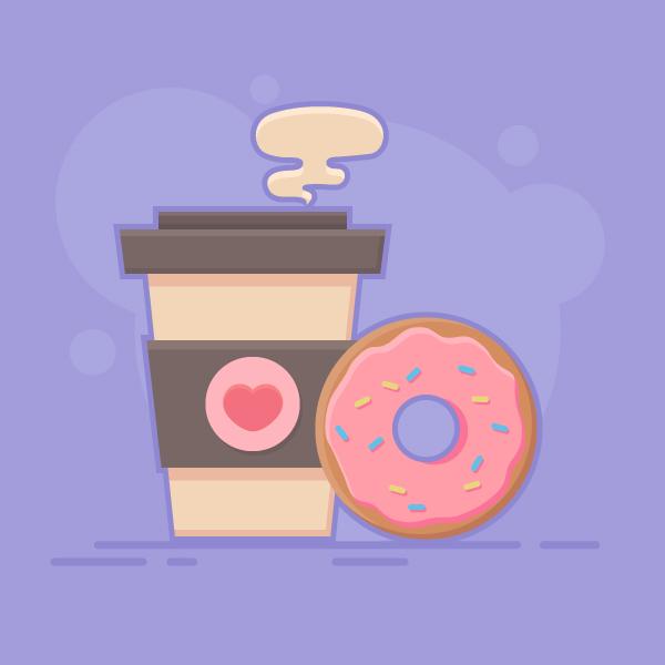 1631086905 870 Cach ve Vector ca phe va banh donut trong Adobe