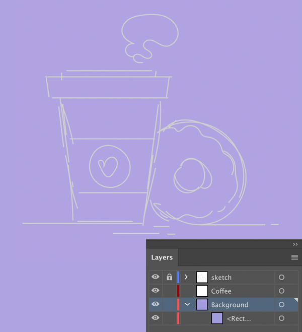 1631086906 419 Cach ve Vector ca phe va banh donut trong Adobe